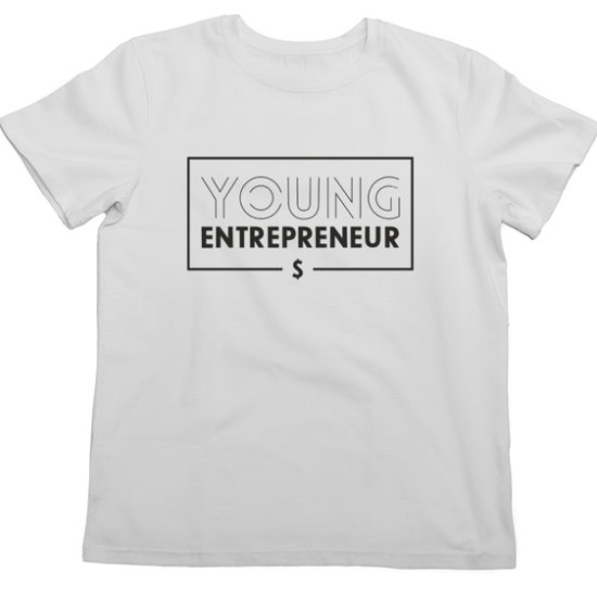 белая футболка young enterpreneur
