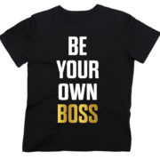 черная футболка be your own boss 1